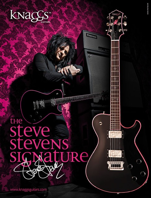 Knaggs Guitars: Anzeige für das Steve Stevens Signature Model
