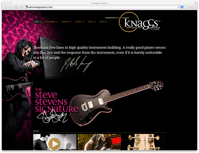 Knaggs Guitars: Website
