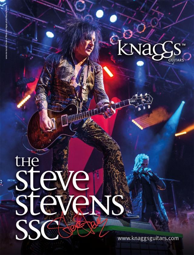 Anzeige für die Steve Stevens SSC von Knaggs Guitars